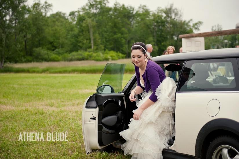Bride Arrival:  Mini Cooper