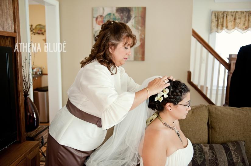 Bride Getting Ready - Veil