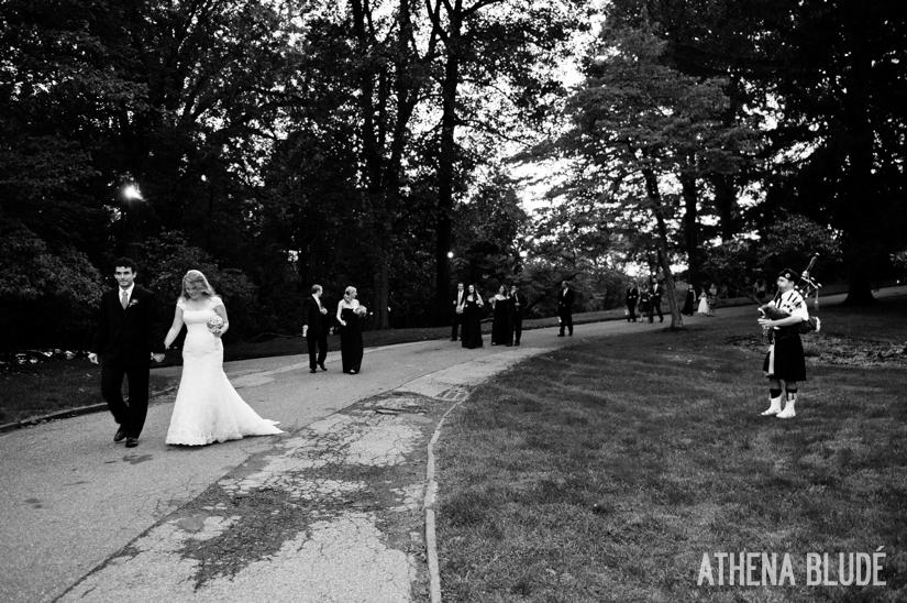 Bagpiper at Lyndhurst Castle Wedding