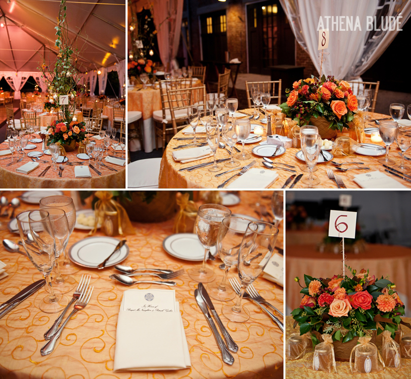 Lyndhurst Castle Wedding Centerpieces